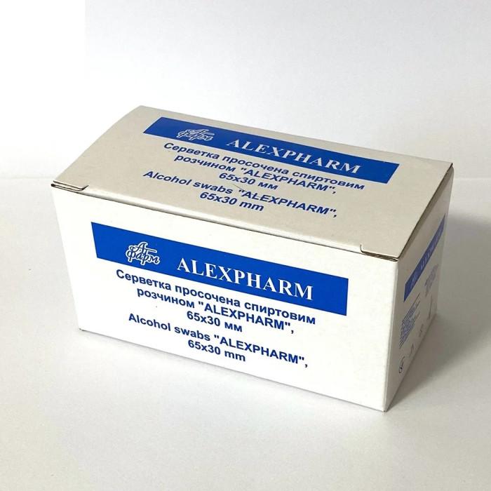 Alexpharm Серветки дезинфікуючі просочені спиртовим розчином, 100 шт.