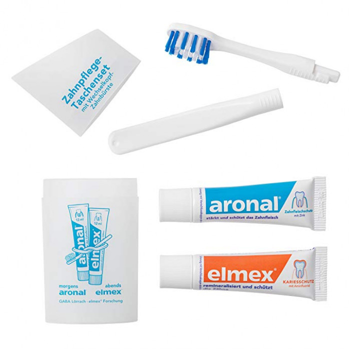 Aronal Elmex Travel Kit дорожній комплект для догляду за зубами