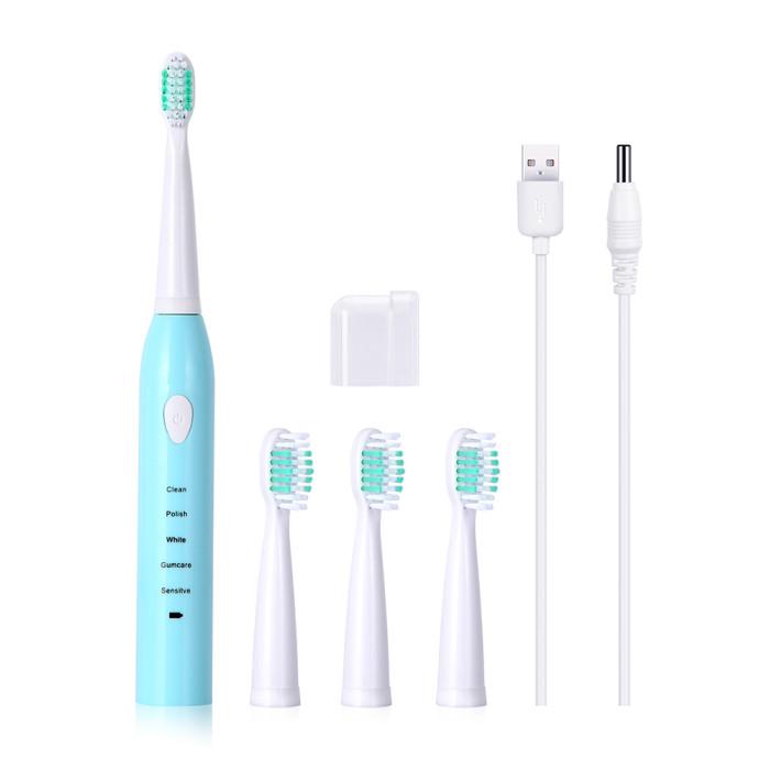 Azdent AZ-3 Pro Звукова електрична зубна щітка, блакитна
