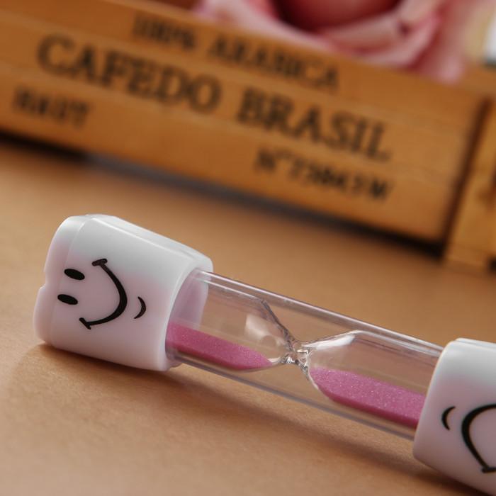Azdent пісочний годинник - таймер для чищення зубів, 3 хв, рожевий