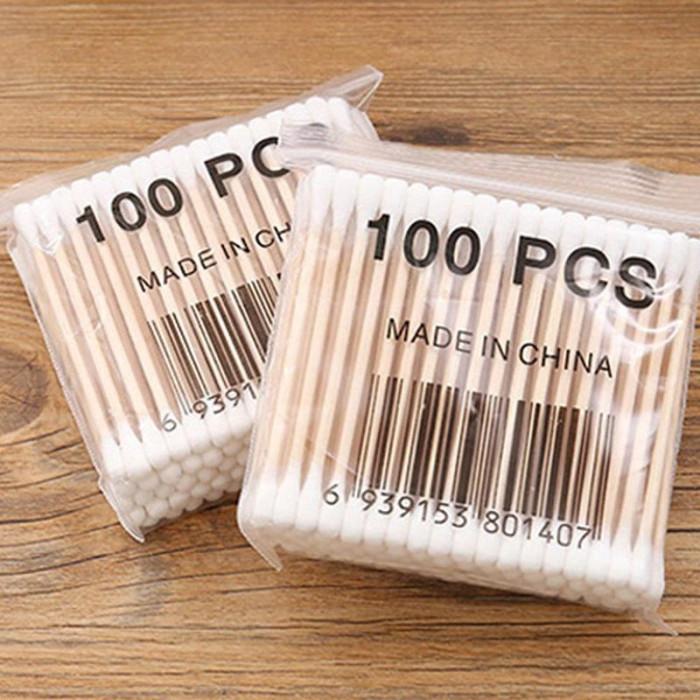 Бамбукові ватні палички для вух 100шт
