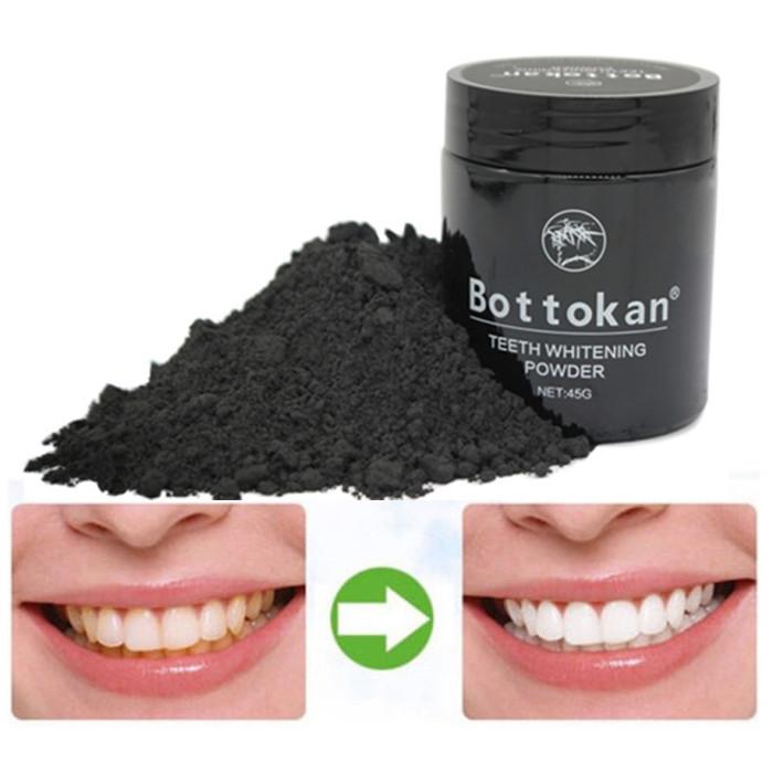 Bottokan органічне активоване вугілля бамбука для відбілювання зубів 45г