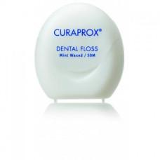 Curaprox DF 834 Зубная нить вощеная с ароматом мяты 50 м