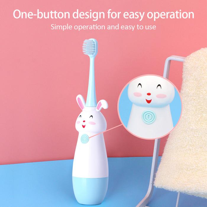 Happy Rabbit Дитяча ультразвукова зубна щітка, синя (від 3 до 12 років)