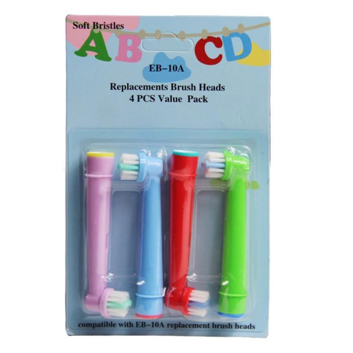Дитячі змінні насадки EB-10А для зубних щіток Oral-В, 4 шт