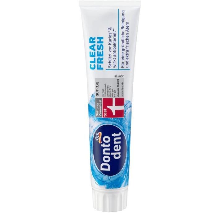 Dontodent Clear Fresh Зубна паста чистота та свіжість, 125 мл