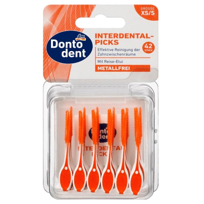 Dontodent Interdental Picks XS(S) Силіконові зубочистки, 42 шт + бокс