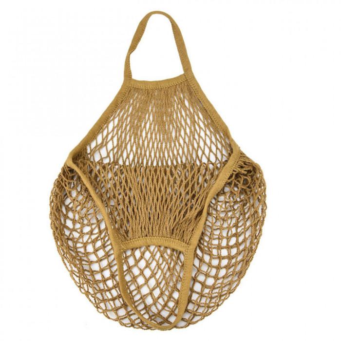 Еко сумка авоська з сітки, коричнева
