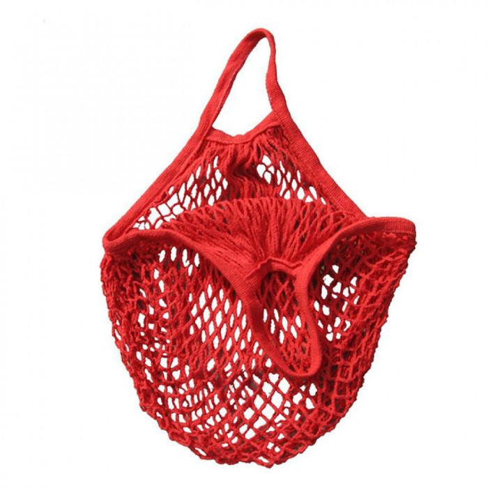 Еко сумка авоська з сітки, червона