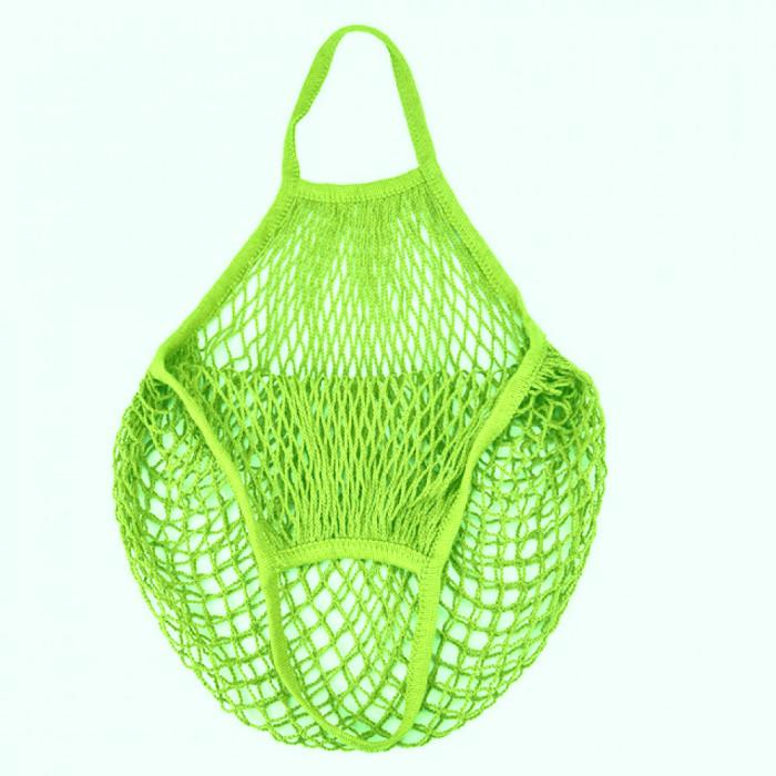 Еко сумка авоська з сітки, салатова