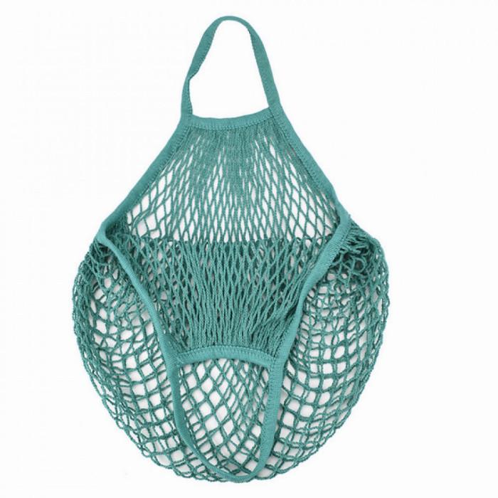 Еко сумка авоська з сітки, темно-зелена