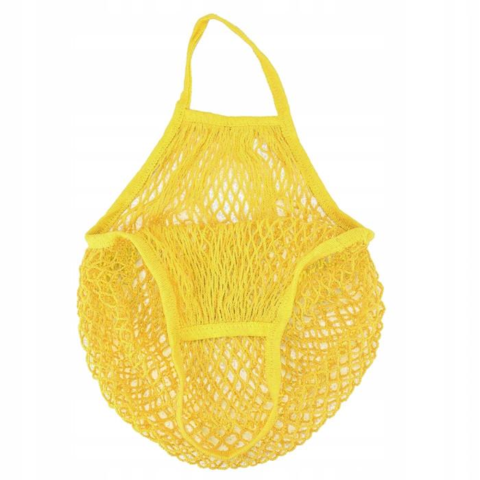 Еко сумка авоська з сітки, жовта