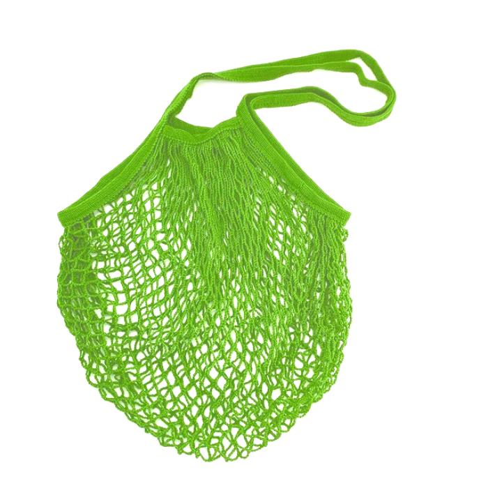 Еко сумка авоська з сітки з довгими ручками, салатова