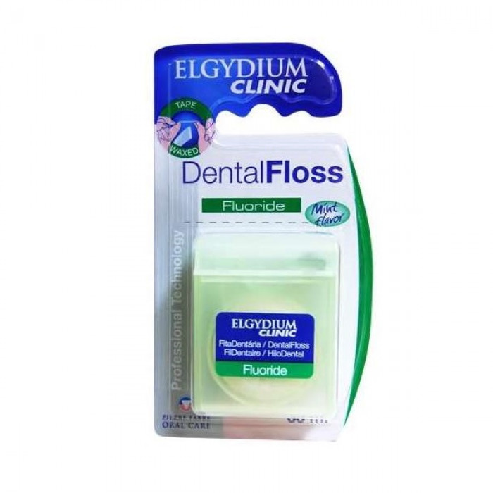 Elgydium Dental Floss зубна нитка з фтором, мята 35м