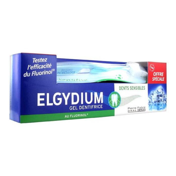 Elgydium Sensitive Teeth зубна паста-гель 75 мл + Мяка зубна щітка