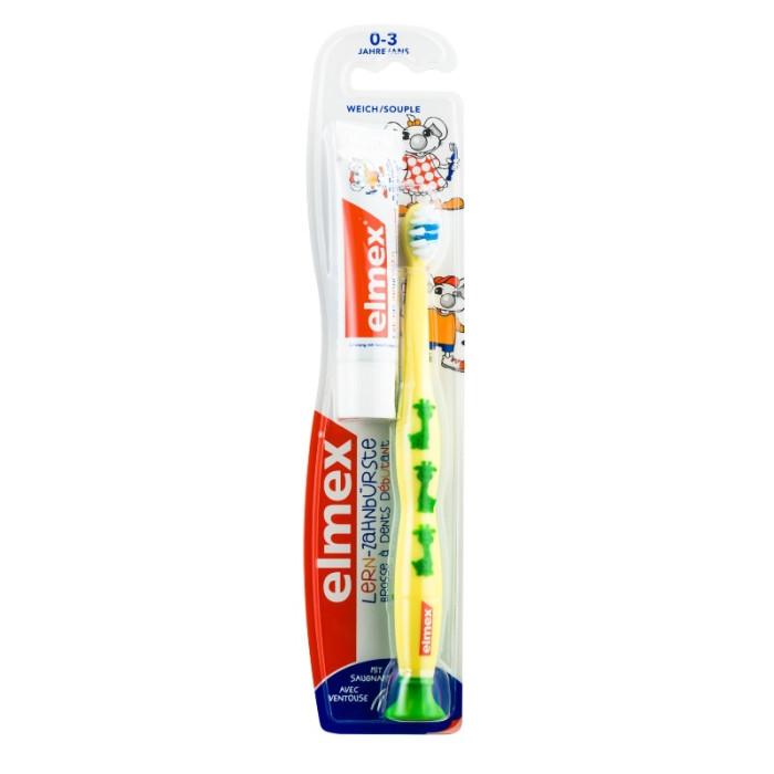 Elmex Lern Дитяча зубна щітка мяка (0-3 років), жовта