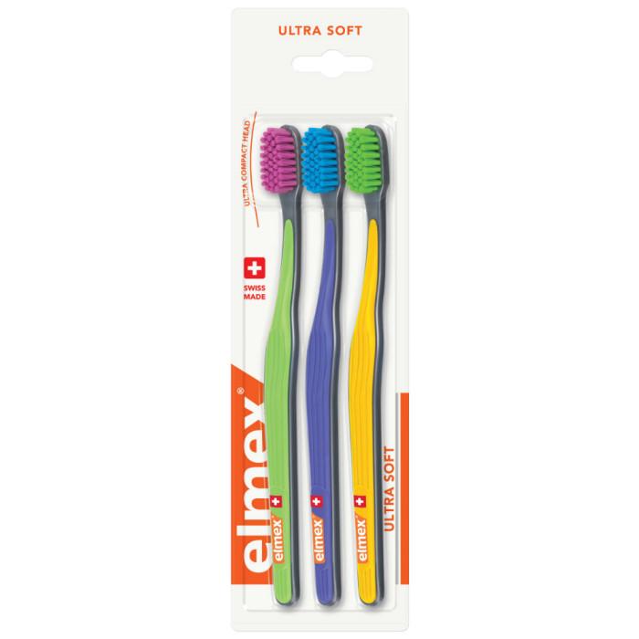 ELMEX Ultra Soft Набір зубних щіток, 3 шт.