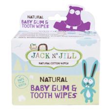 Jack n Jill Дитячі серветки для зубів і порожнини рота, 25 шт