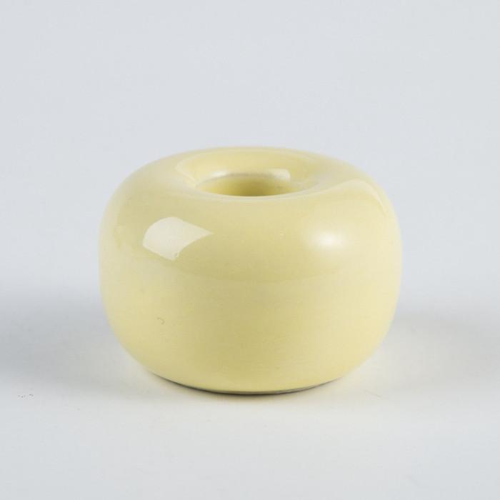 Керамічна підставка для зубних щіток жовта