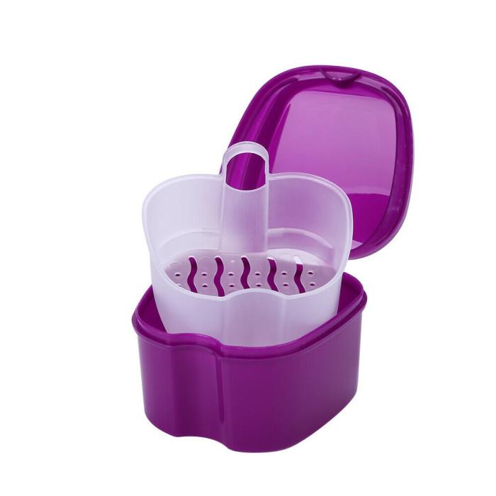 Контейнер для зберігання ортодонтичних конструкцій і знімних зубних протезів, Фіолетовий