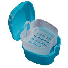 Контейнер для зберігання ортодонтичних конструкцій і знімних зубних протезів, Голубий