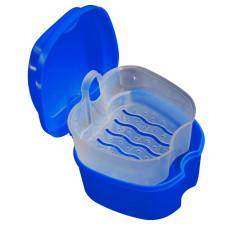 Контейнер для зберігання ортодонтичних конструкцій і знімних зубних протезів, Синій