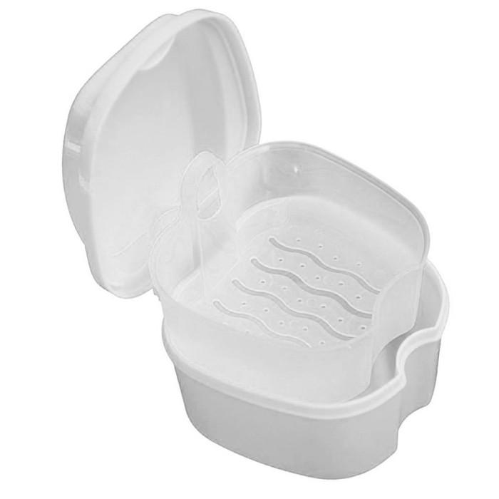 Контейнер для зберігання ортодонтичних конструкцій і знімних зубних протезів, Білий