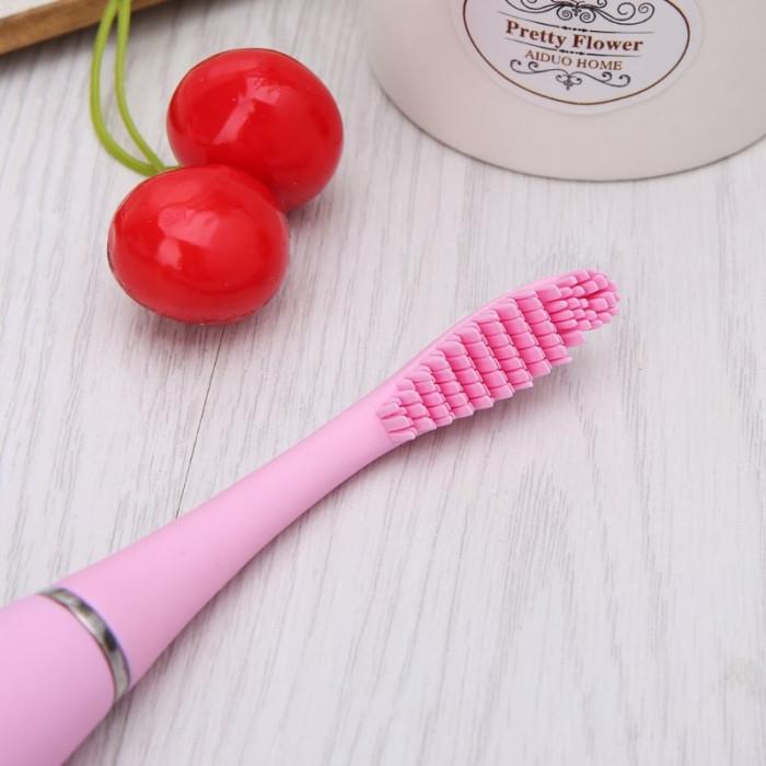 MCMEIICAO силіконова електрична ультразвукова зубна щітка, рожева