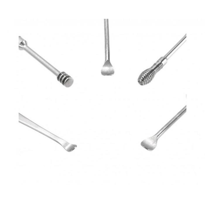 Набір інструментів для чистки вух, 5 шт.