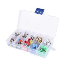 Набор щеток для полировки зубов, нейлоновые, цветные, 100 шт