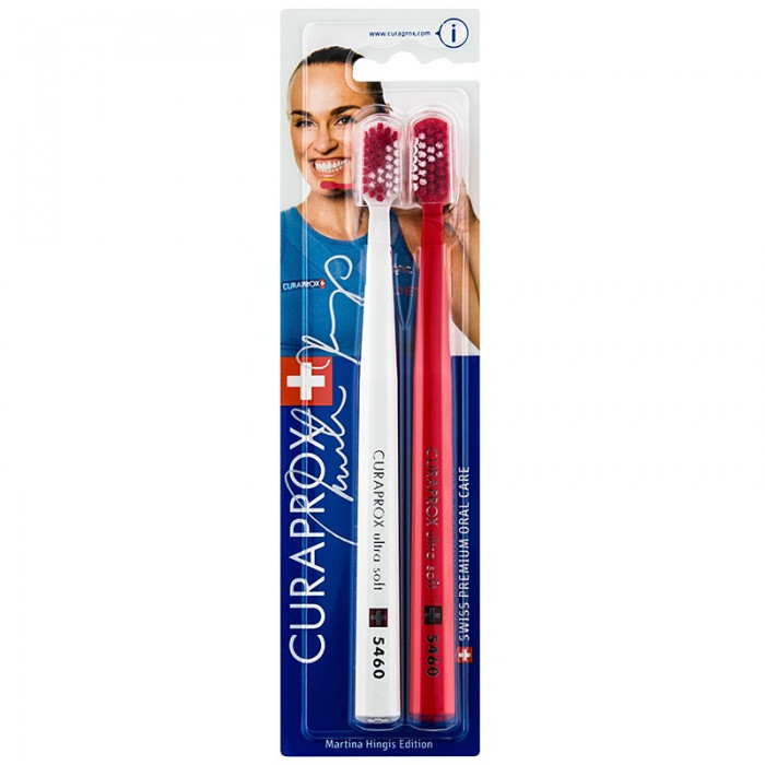 Набір зубних щіток Curaprox CS 5460 Ultrasoft Martina Hingis 2 шт