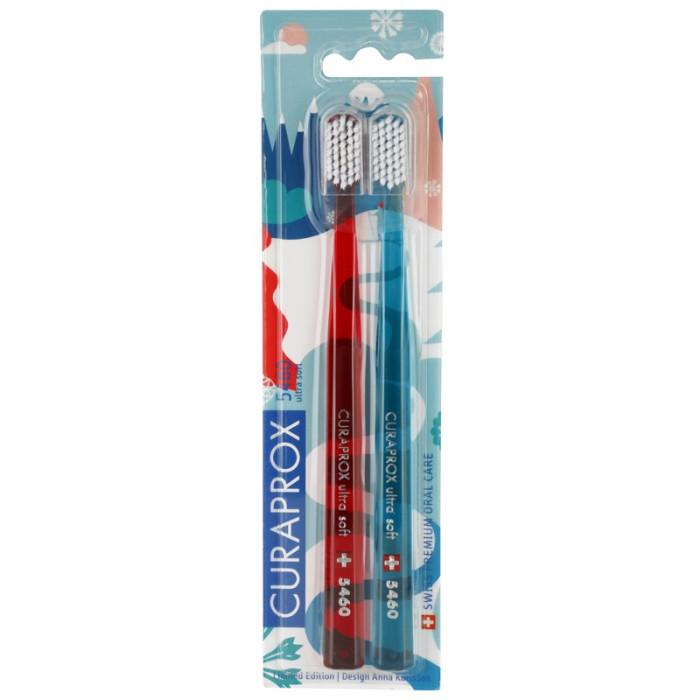 Набір зубних щіток Curaprox CS 5460 Ultrasoft Winter Edition 2 шт