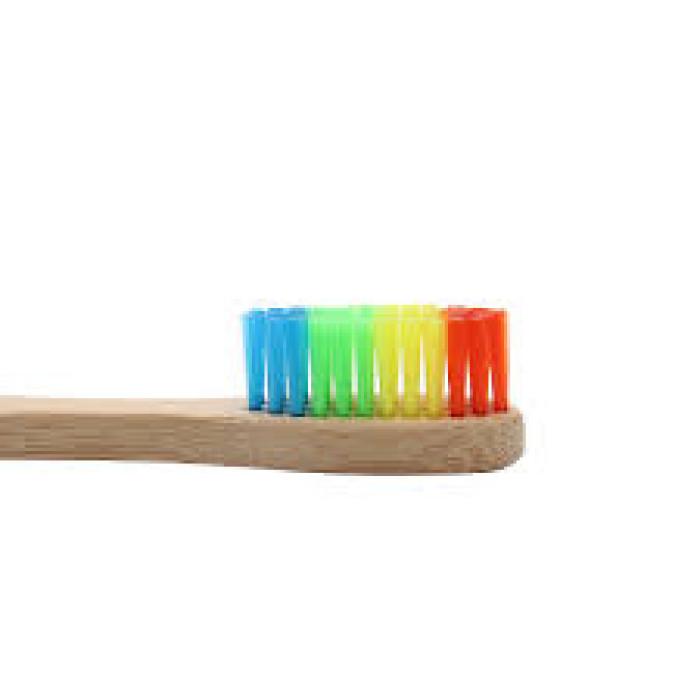 Newday бамбукова зубна щітка, середньої жорсткості, різнобарвна