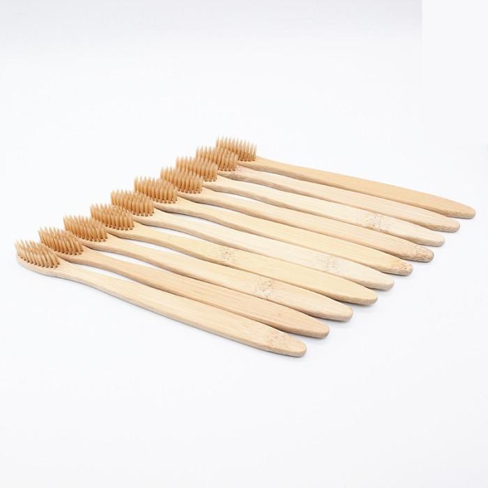 Newday бамбукова зубна щітка, середньої жорсткості, бежева