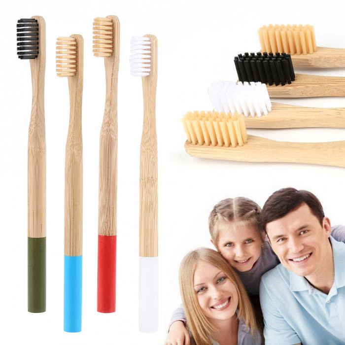 Newday бамбукова зубна щітка мяка, синя