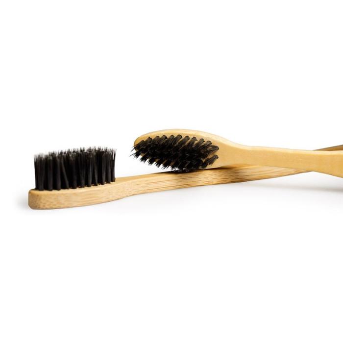 Newday бамбукова зубна щітка, середньої жорсткості, чорна