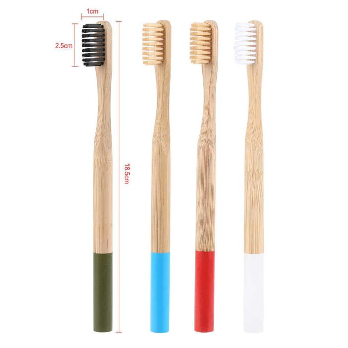 Newday бамбукова зубна щітка мяка, біла