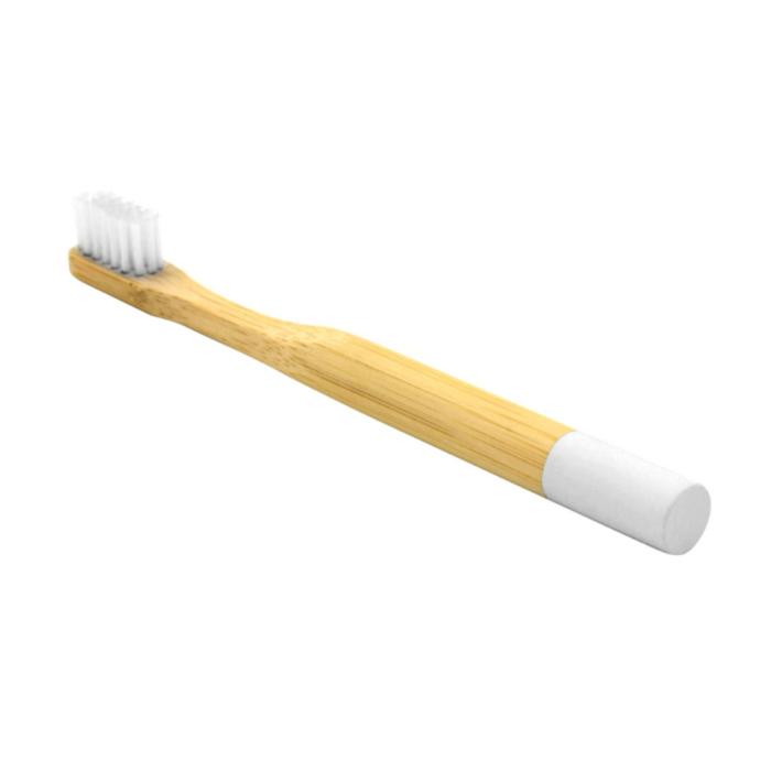Newday kids дитяча бамбукова мяка зубна щітка, Біла