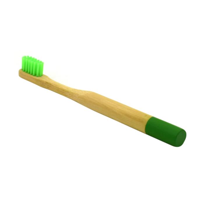 Newday kids дитяча бамбукова мяка зубна щітка, Зелена