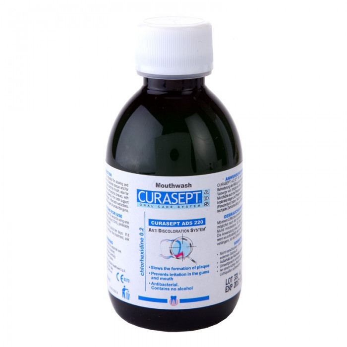Ополіскувач Curaprox Curasept 0,20% хлоргексидину (200мл) ADS 220