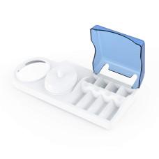 Подставка для электрической зубной щетки Oral-B и насадок с синей крышкой