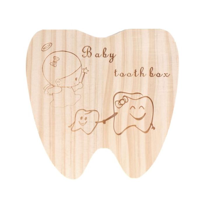 Шкатулка органайзер для зберігання молочних зубів дитини у формі зуба