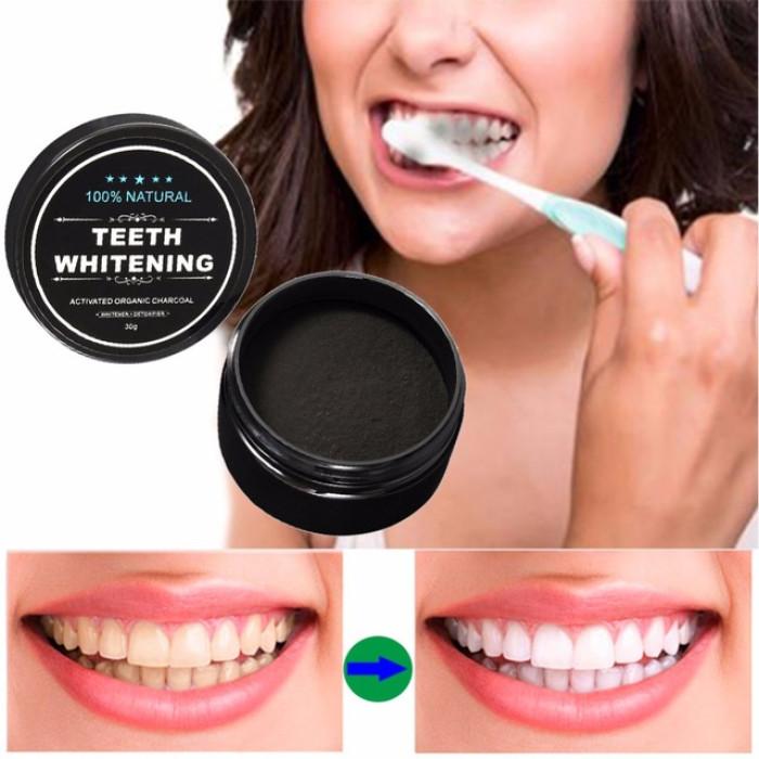 Відбілюючий порошок з активованого вугілля для зубів 30г