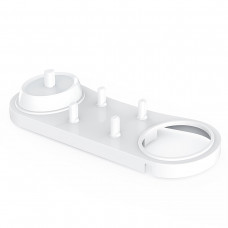 Підставка для електричної зубної щітки oral-b і 4 насадок, Біла