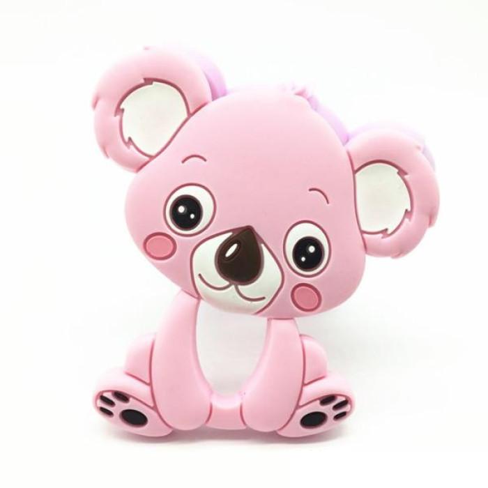 Прорізувач зубів у формі коали, рожевий