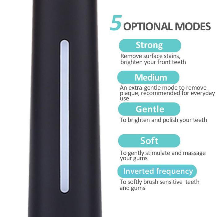 SEAGO SG-958 ультразвукова зубна щітка, чорна