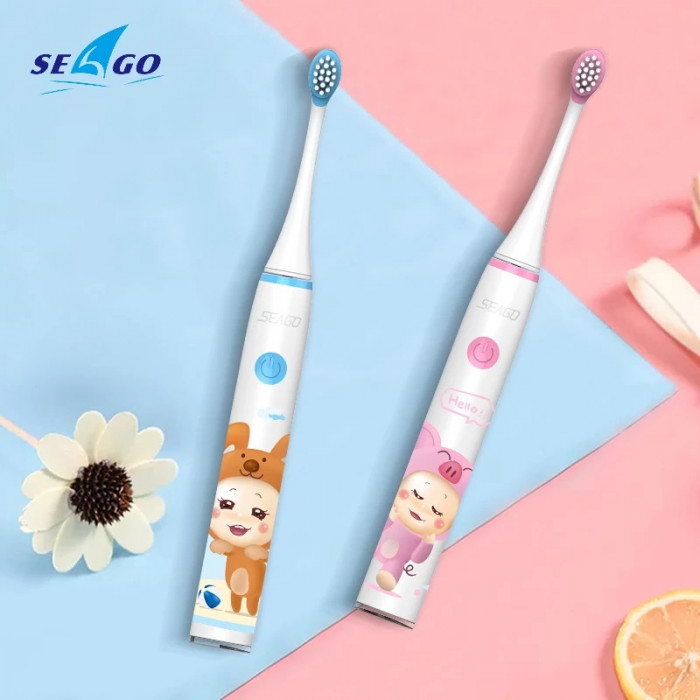 Seago SK3 Pro Wi-Fi звукова зубна щітка для дітей від 6 до 12 років, Синя