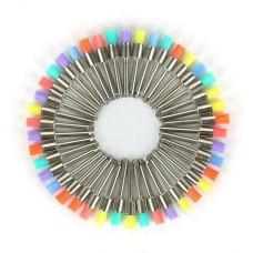 Щетки для полировки зубов, нейлоновые, цветные, 10 шт