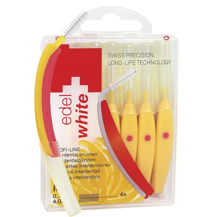 Щітки Profi-Line для міжзубних проміжків Edel White M, 6 шт