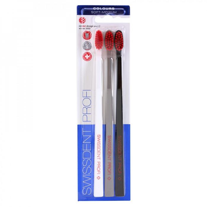 Swissdent Colours Soft Medium Набір зубних щіток, 3 шт.